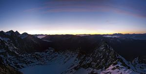 Schwarz Wand Sunrise 2 3105m by rembrandt83