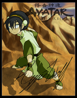 Avatar: Toph's Fighting Pose by reggiewolfpro