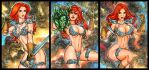 RED SONJA PERSONAL SKETCH CARDS 11-2015 by AHochrein2010