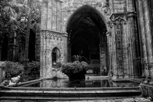 gothic temple yard... by archonGX