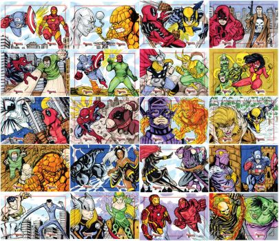 Marvel Creates Battles oficial sketch cards 81-120 by mdavidct