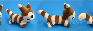 Plushie: Sleepy Furret by Serenity-Sama