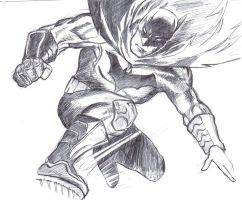 Dark knight sketch by magicalclaire