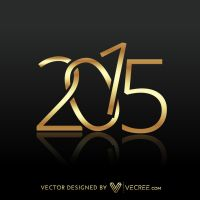 2015 Written In Gold Free Vector by vecree