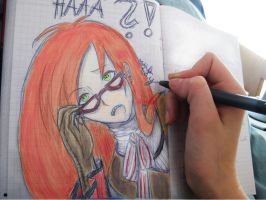 Grell in my diary... by MidnightCoCy