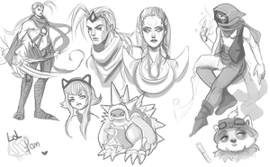 League of  legends' sketch by Kashuse