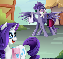Contest Entry: Rarity and Kydose by TheNornOnTheGo