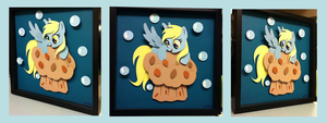 Giveaway:  Derpy on ze Muffin Shadowbox by The-Paper-Pony