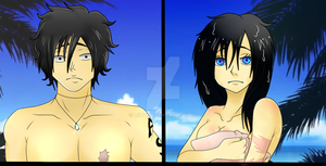 [One Piece OC] Genderbend: Reila and Naoki by PortgasDReila