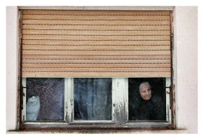 Lady in the window by Ciril