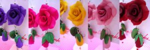 Breast Cancer Roses by HanaClayWorks