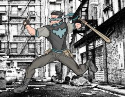 Nightwing Rockabilly by rubioric