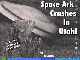 Space Ark Crashes In Utah by Wahreoh