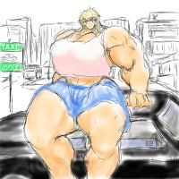 Elf waiting who (on taxi) by me-go