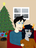 HSS: John and Vriska by samiemonkey
