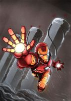 Iron Man in the storm by Av3r