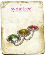 Diamond Setted Gold Plated Tourmaline Ring by SymetreeIND