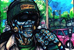 Robo-Hipster by DrabRats