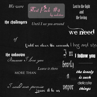 my forth text pack zip by NabStew