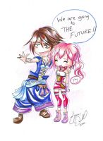 Chibi Final Fantasy 13 2 by AnimeJanice