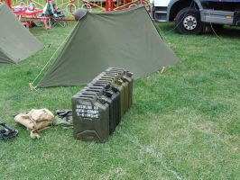 WW2 Tent and Jerry Cans by fuguestock