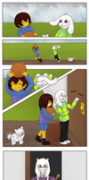 Undertale Comic - Rainy Day - Asriel x Frisk by Niutellat