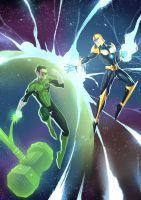 Green Lantern vs Nova by alanscampos