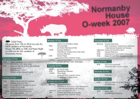 Normanby House O-Week Poster by boss13055