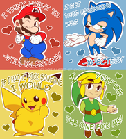 ~.Video Game Valentines.~ by faster-by-choice