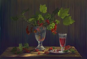 Still life with currants by Urchina