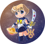 Sailormoon buttons Set 2: Sailor Uranus by Hadibou