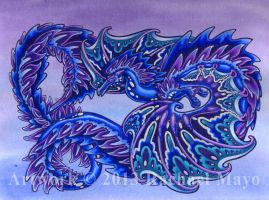 Winter Contemplation dragon design by rachaelm5