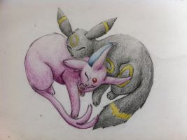Umbreon n Espeon by Trixies-Wish