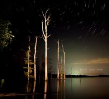 Hovey Lake Star Trails by DARRYL-SMITH