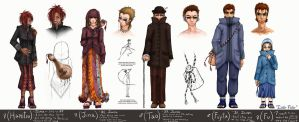 Aburame Clan Members 3 by Lithe-Fider