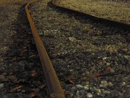 Late Night Train Track by S-H-Photography