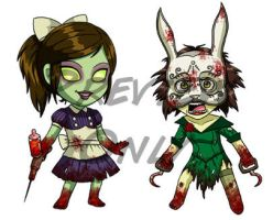 Bioshock Chibis Pt. 2 by Red-Flare