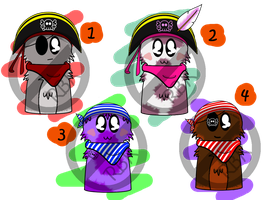 Pirate Scarfblobs Adopts! (Open!) by Randomness-By-Korki