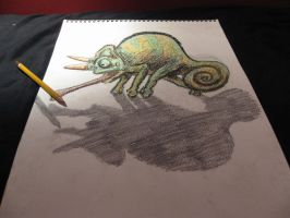 Pencil Chameleon by periodofconsequenses
