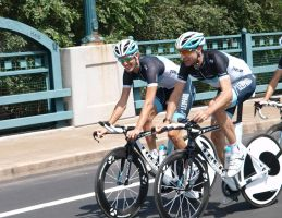 Andy Schleck and Jens Voigt by ehawlz