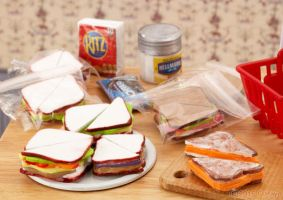 Sandwich n Lunch Prep for The Dolls by Spiders-Child