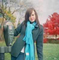 Blue Scarf Beauty by JCNProductions