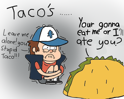 Dipper goes to taco bell by Rainidog