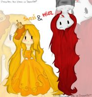 Mizz and Suzzi by Drawing-Heart