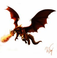 Flying dragon by Deadguybeer