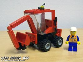 LEGO Digger MOC compact by ninjatoespapercraft