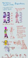 Equestria Girls Tutorial: Proportions by Kanduli