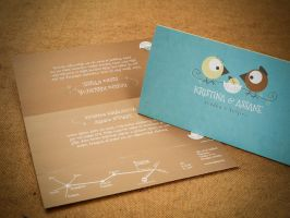 K and A - wedding invitation by kRemo