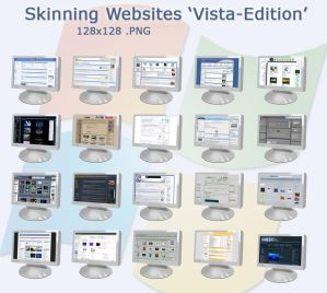 Skinning Website Icons   VISTA by bezem049 Iconos para Windows XP