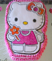 Hello Kitty Shaped Cake. by Lucrecia1511